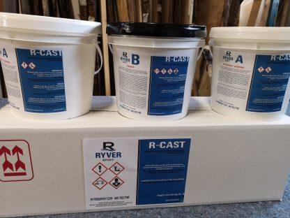 Résine d'époxy pour couleur en profondeur - Format 3 gallons