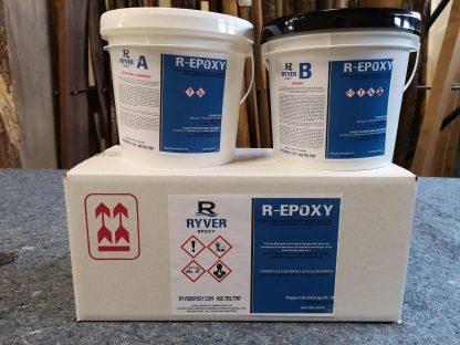 Résine d'époxy pour le bois - Format 1.5 gallons
