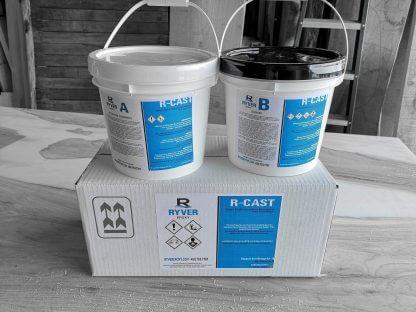 Résine d'époxy R-CAST pour table rivière, format de 1.5 gallons